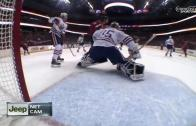 Alex Ovechkin shatters goal camera lens with slap shot