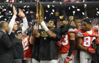 Ohio State Buckeyes celebrate winning the National Championship vs. Oregon