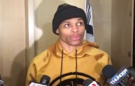 "Russell Westbrook attempting his own Marshawn Lynch ""Execution"""