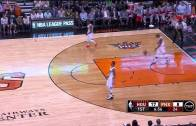 Eric Bledsoe & PJ Tucker of the Phoenix Suns blow in-bounds play