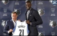 Kevin Garnett introductory press conference with the Minnesota Timberwolves