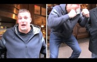 Rob Gronkowski spikes Miami Dolphins hat and jokes with TMZ reporter