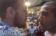 Conor McGregor & Jose Aldo hostile towards each other in TV interview