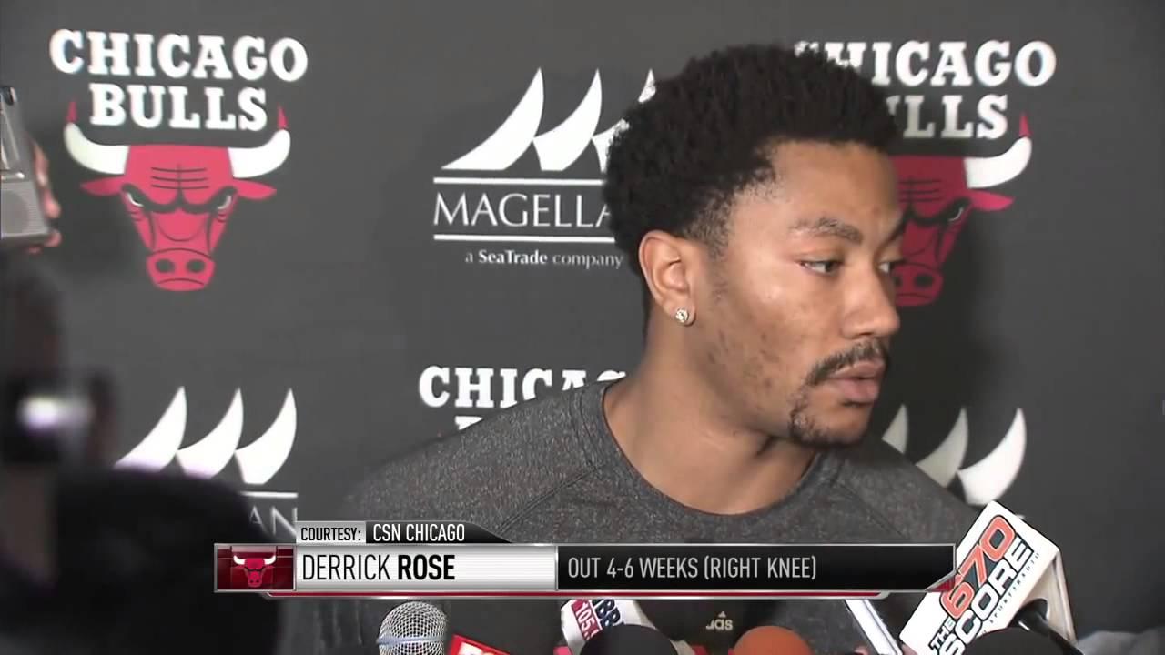 Derrick Rose speaks to the media & says