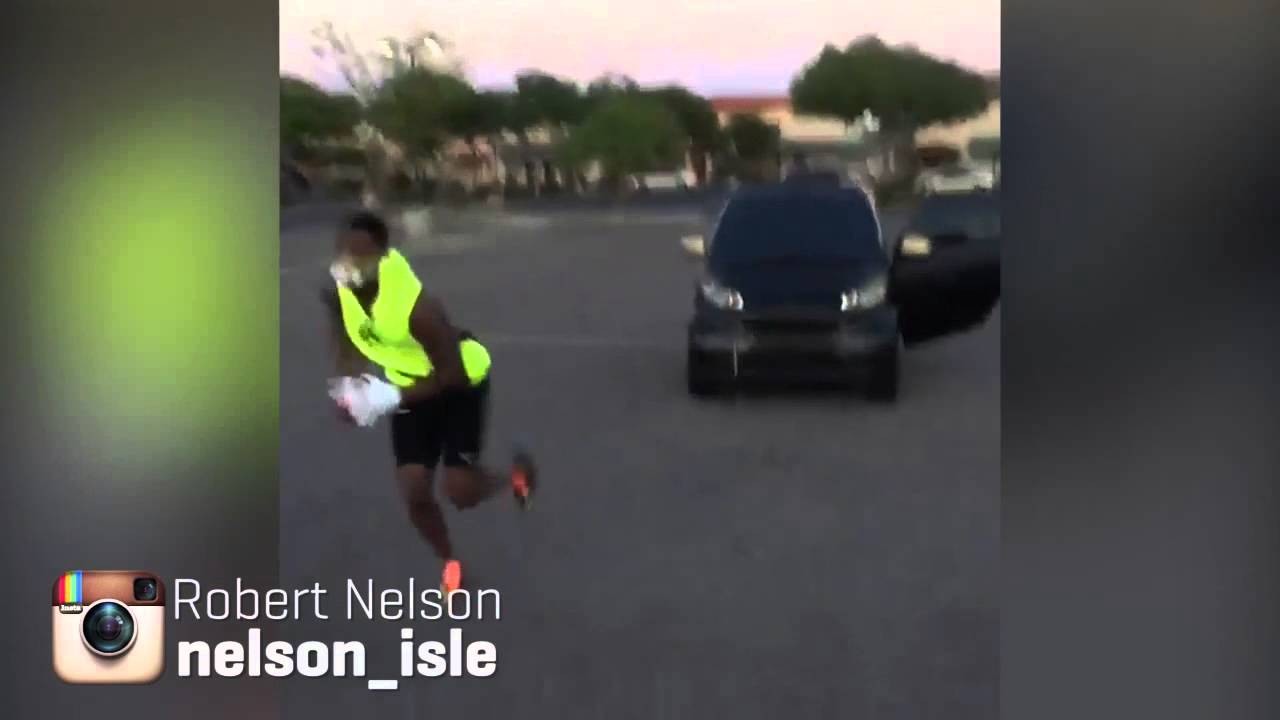 Get It: Cleveland Browns CB Robert Nelson pushes & pulls car for training