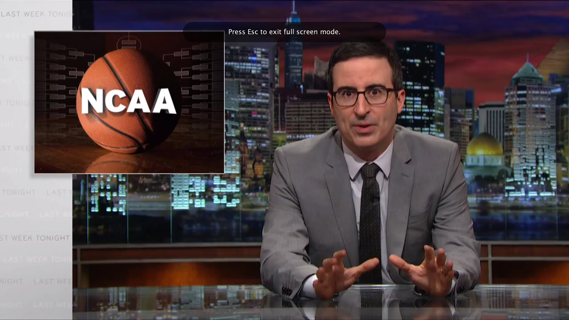 John Oliver rips NCAA for not paying athletes