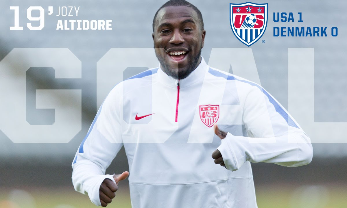 Jozy Altidore scores beautiful goal for USA soccer vs. Denmark