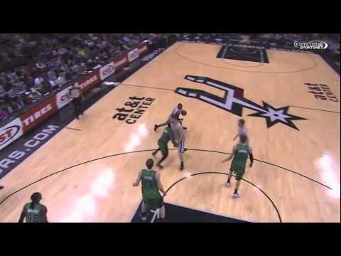 Marcus Smart throws a low blow shot at Matt Bonner