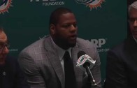 Miami Dolphins introduce Ndamukong Suh