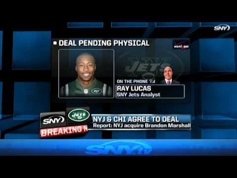 New York Jets acquire Brandon Marshall from the Chicago Bears