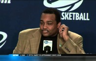 Ron Hunter gets emotional reflecting on his son & Georgia State tourney run