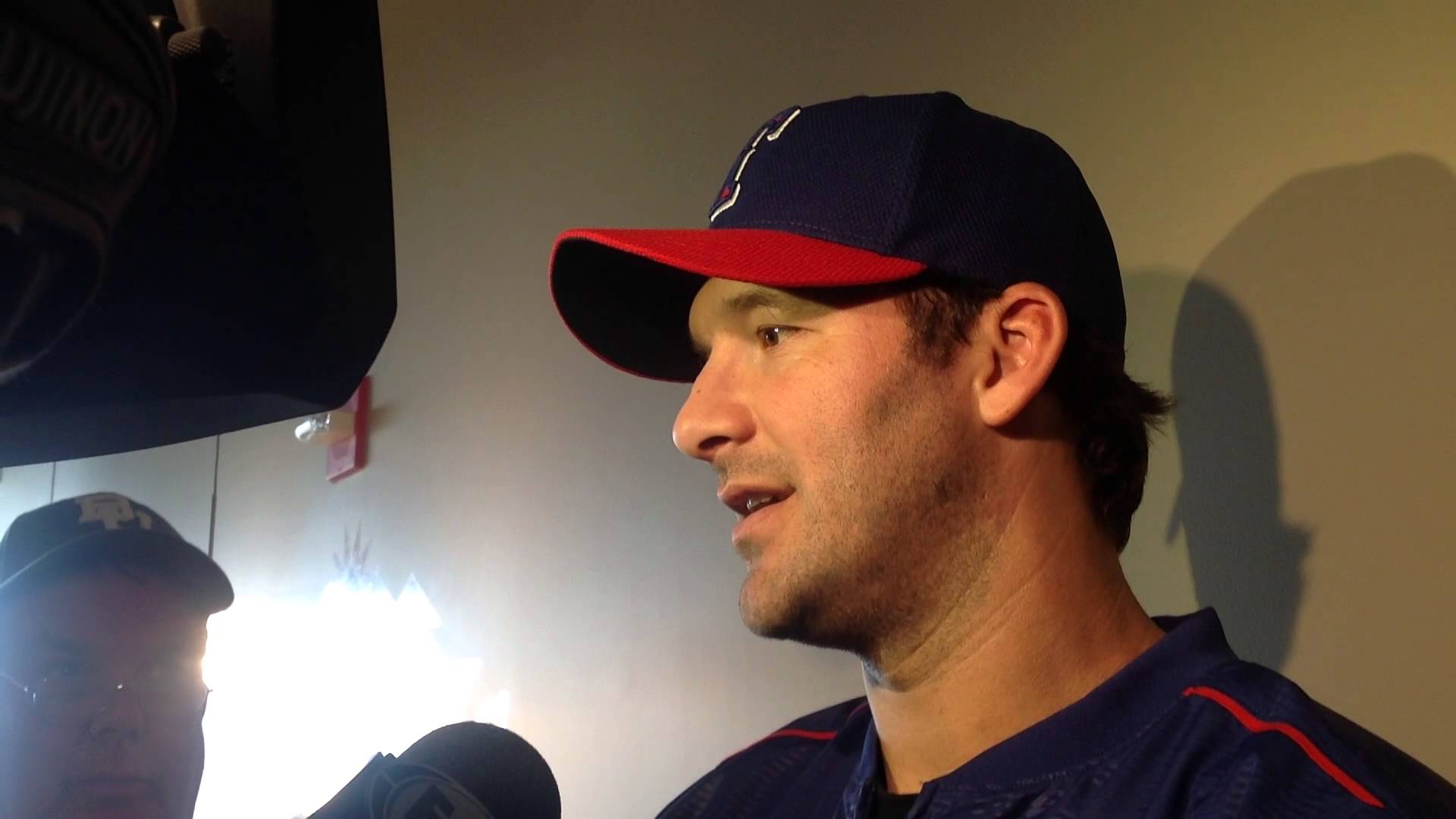 Tony Romo speaks on the loss of DeMarco Murray from Texas Rangers camp
