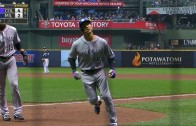 Carlos Gonzalez smokes a homer to center field
