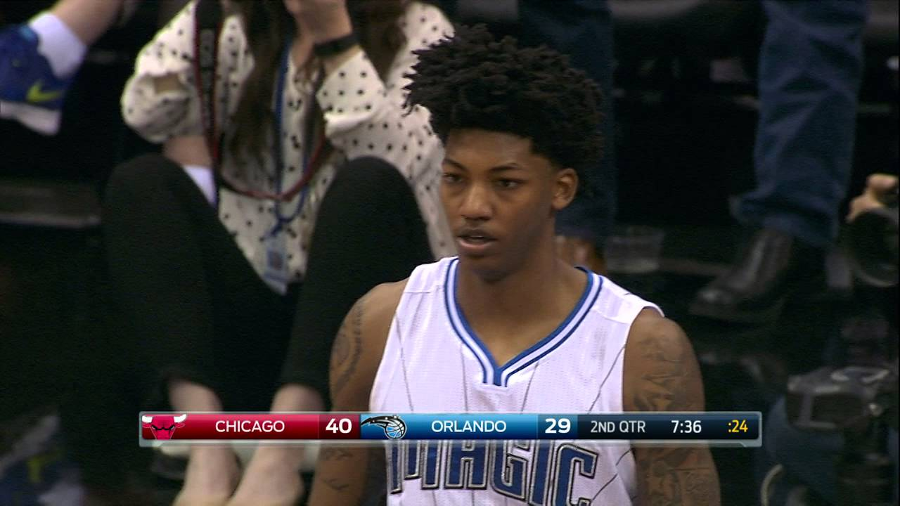 Elfrid Payton with the put-back poster slam on Taj Gibson