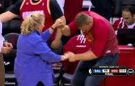JJ Watt dances to celebrate Houston Rockets victory