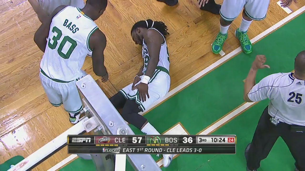 JR Smith drills Jae Crowder in the face