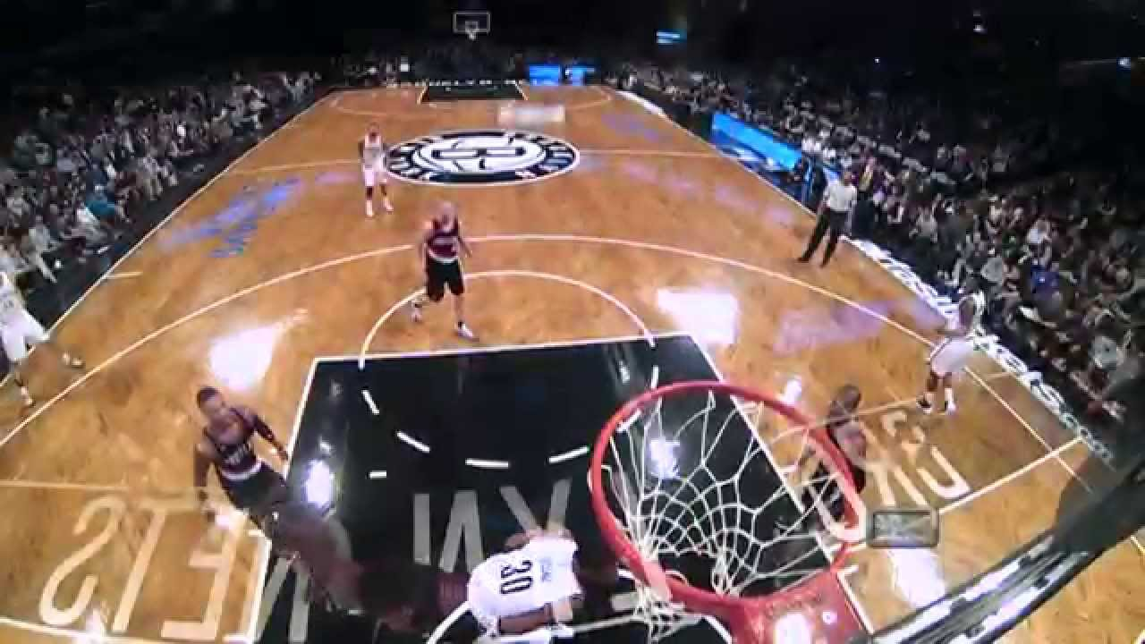 Thaddeus Young with a serious throwdown over Meyers Leonard