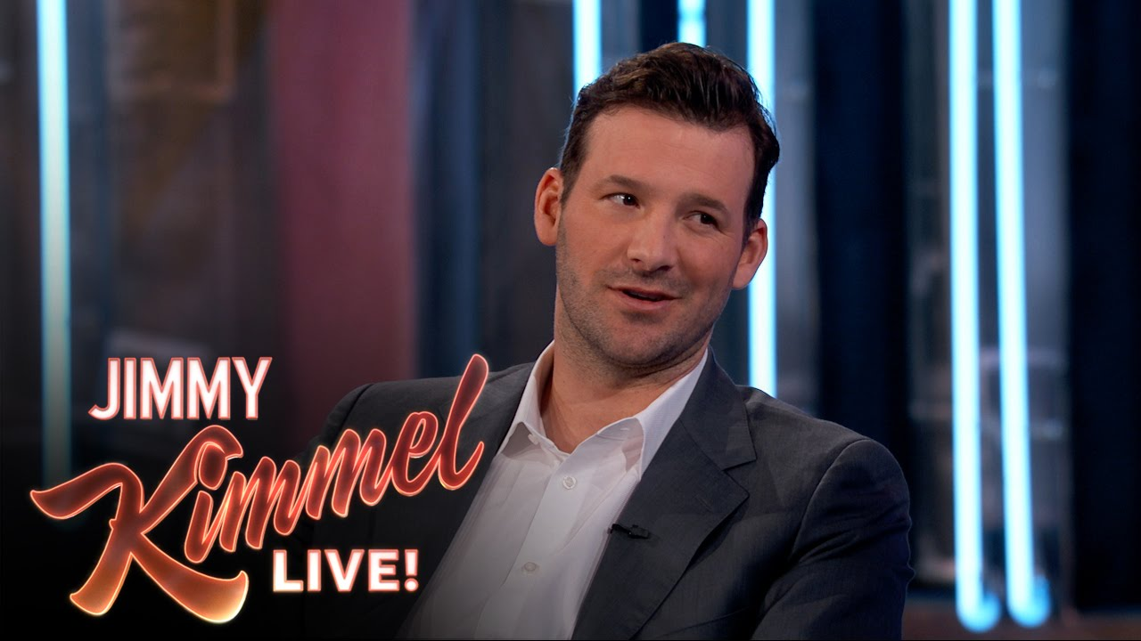 Tony Romo with Jimmy Kimmel on the future of the Cowboys