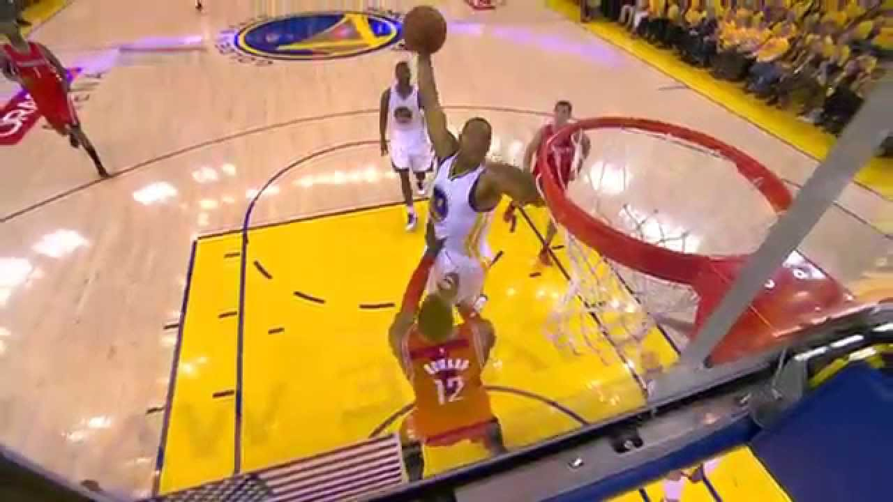Andre Iguodala punches home the hammer