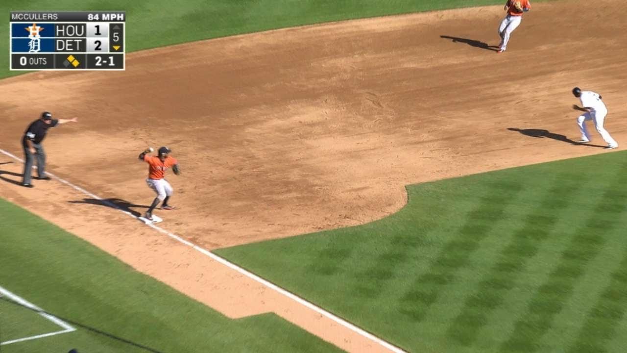 Astros turn a rare 5-4-3 triple play