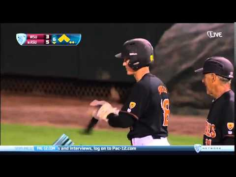 ASU batter gets beamed, catches it & throws it back at the pitcher