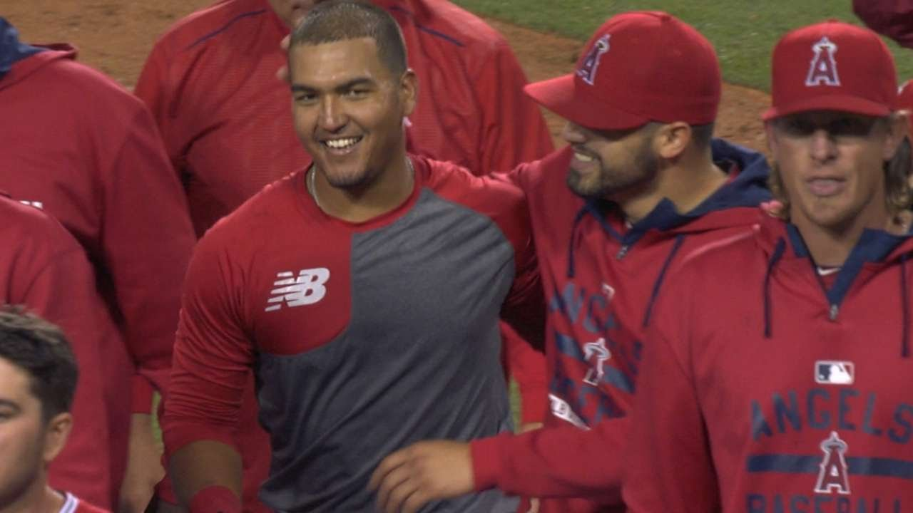 Carlos Perez launches first career homer & it's a walk-off home run