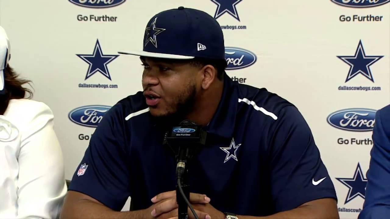 Dallas Cowboys press conference introducing La'El Collins