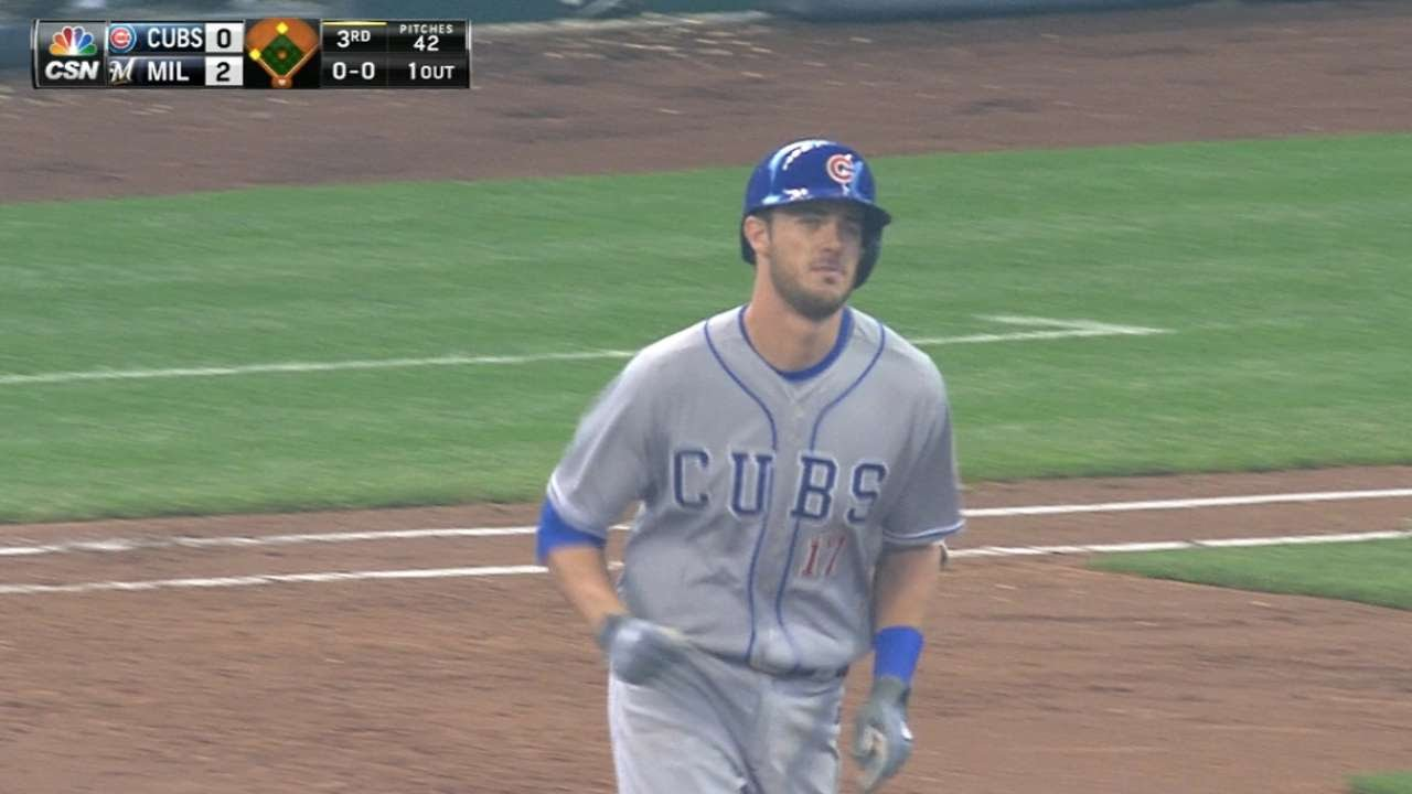 Kris Bryant connects for first MLB home run