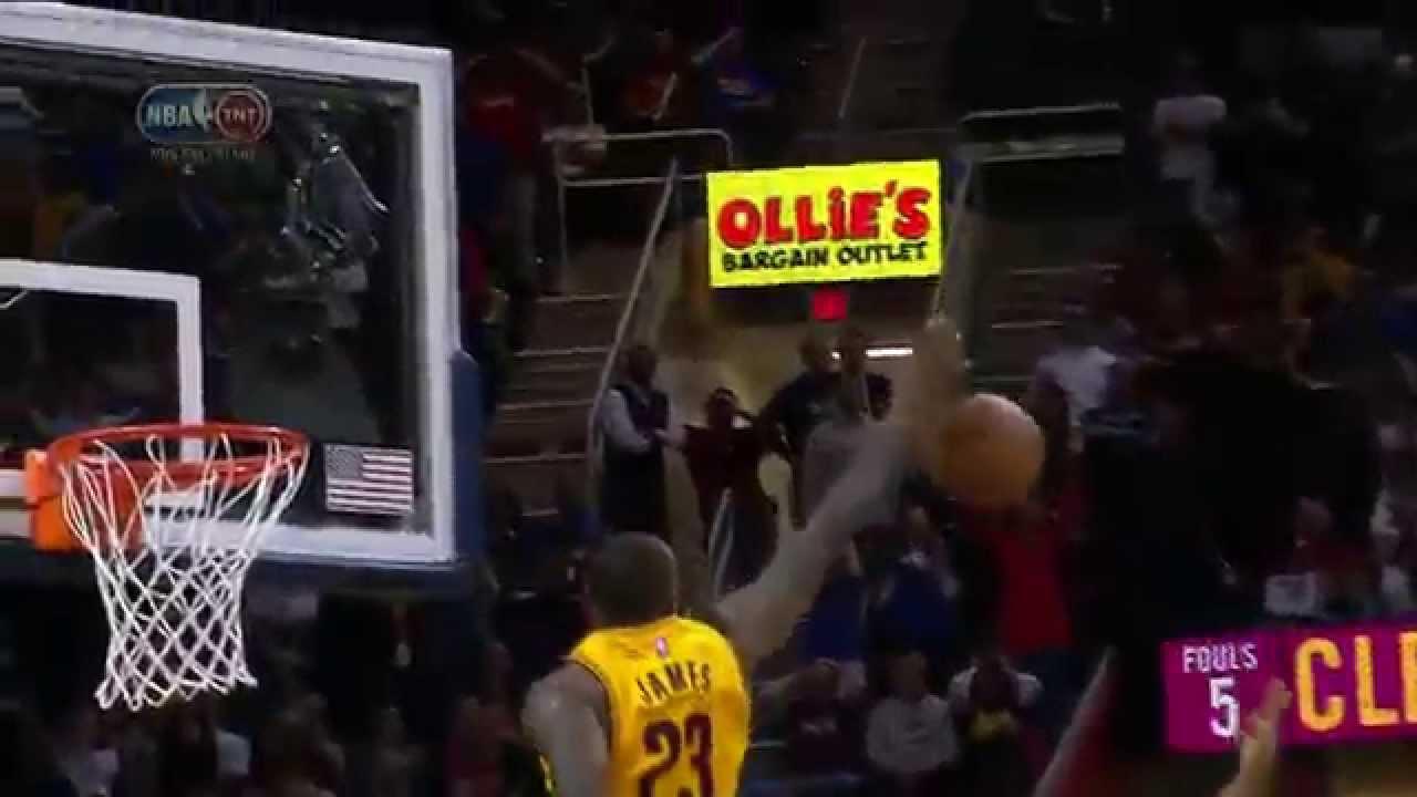 LeBron James blocks D-Rose's game tying layup