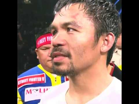 Manny Pacquiao says he thought he won the fight