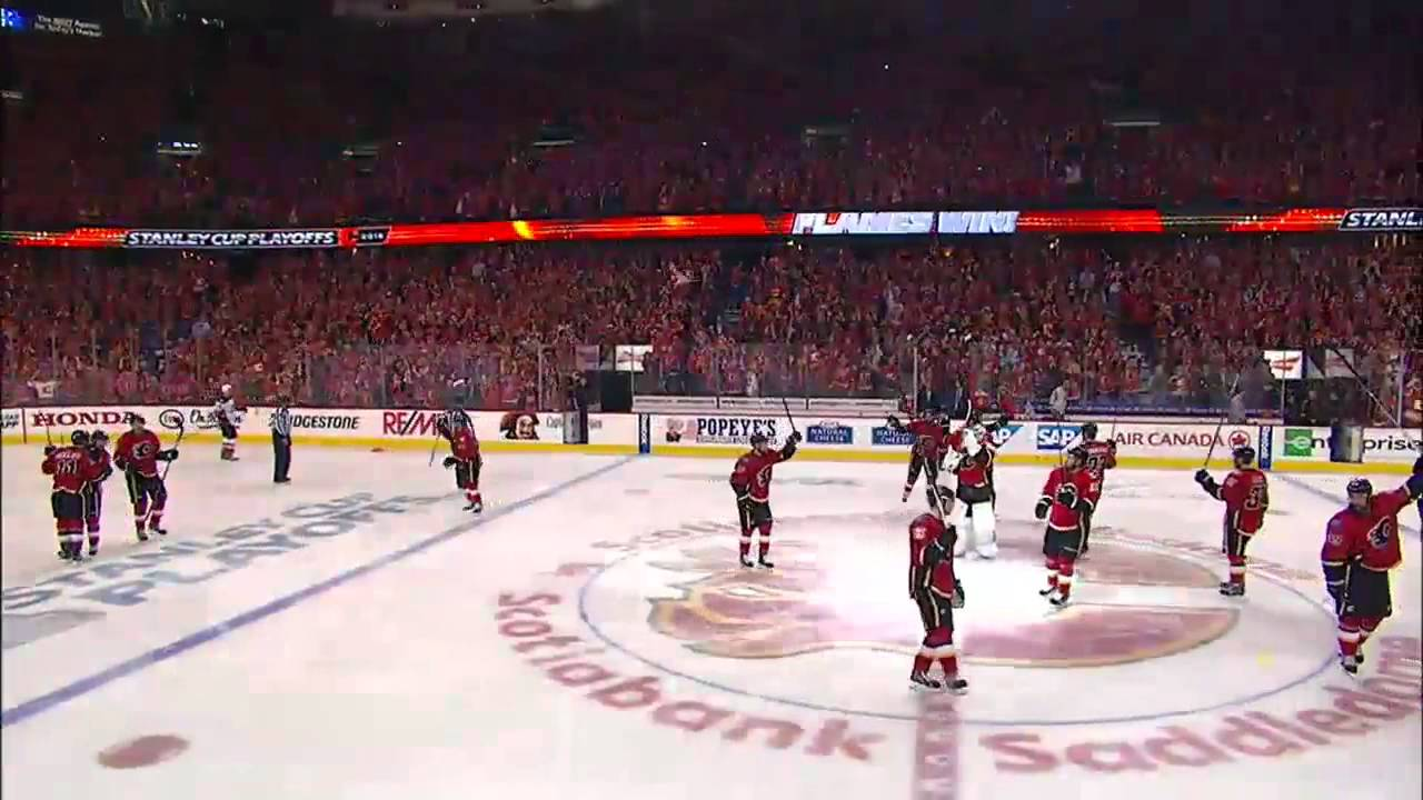 Mikael Backlund's scores overtime goal to defeat the Ducks 4-3