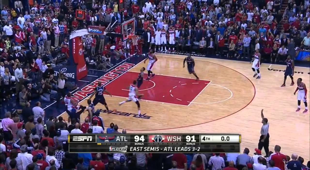 Paul Pierce with the almost buzzer beater 3-pointer to tie
