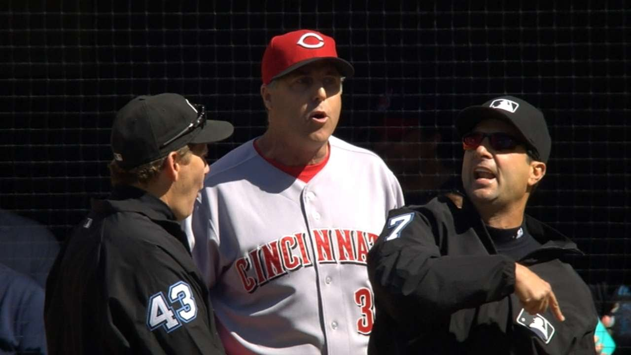 Reds manager Bryan Price gets ejected before game starts