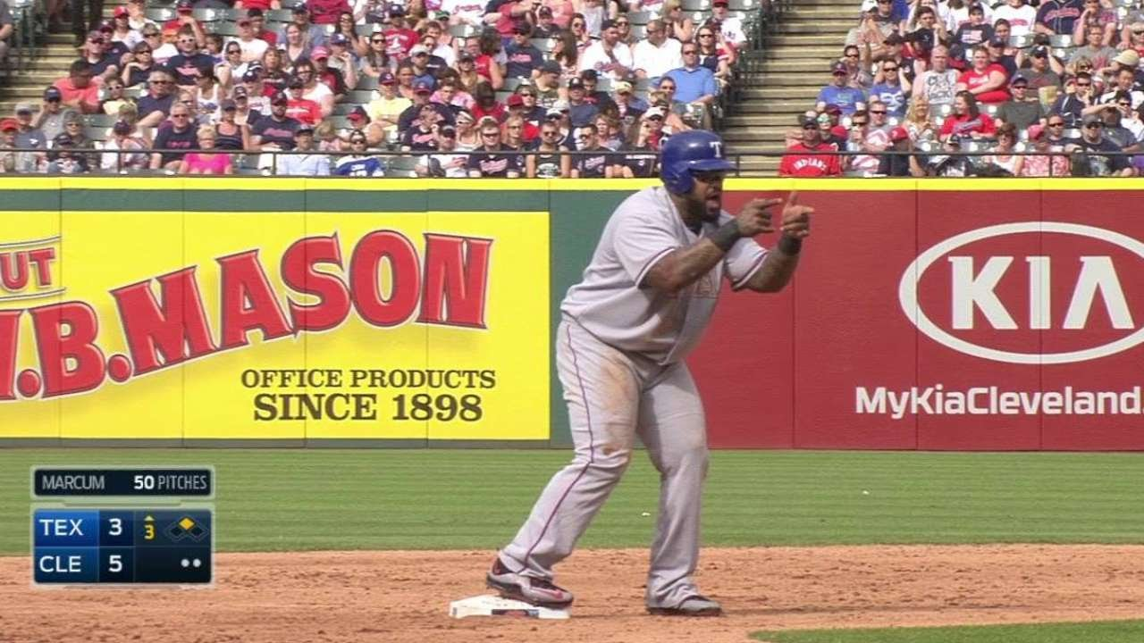 Shaun Marcum tries to pick off Prince Fielder during timeout