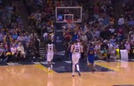 Steph Curry gets the steal & the flush