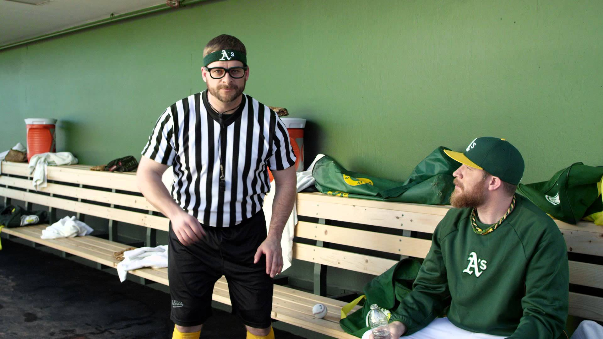 Stephen Vogt is the clubhouse NBA ref for the Oakland A's