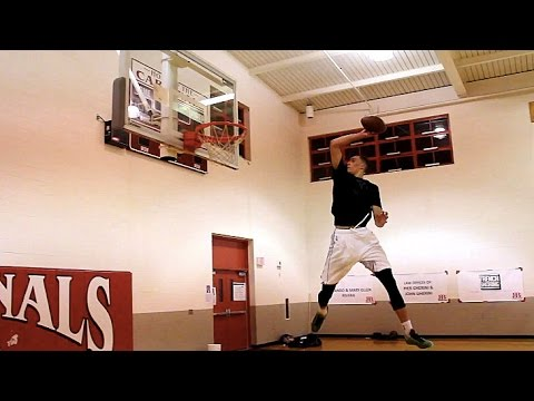 T-Wolves PG Zach Lavine with impressive dunks with a football