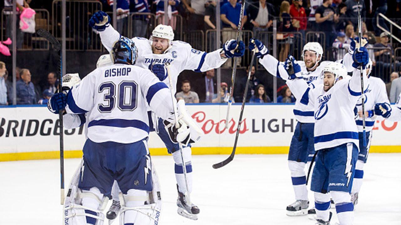 Tampa Bay Lightning celebrate after winning Game 7