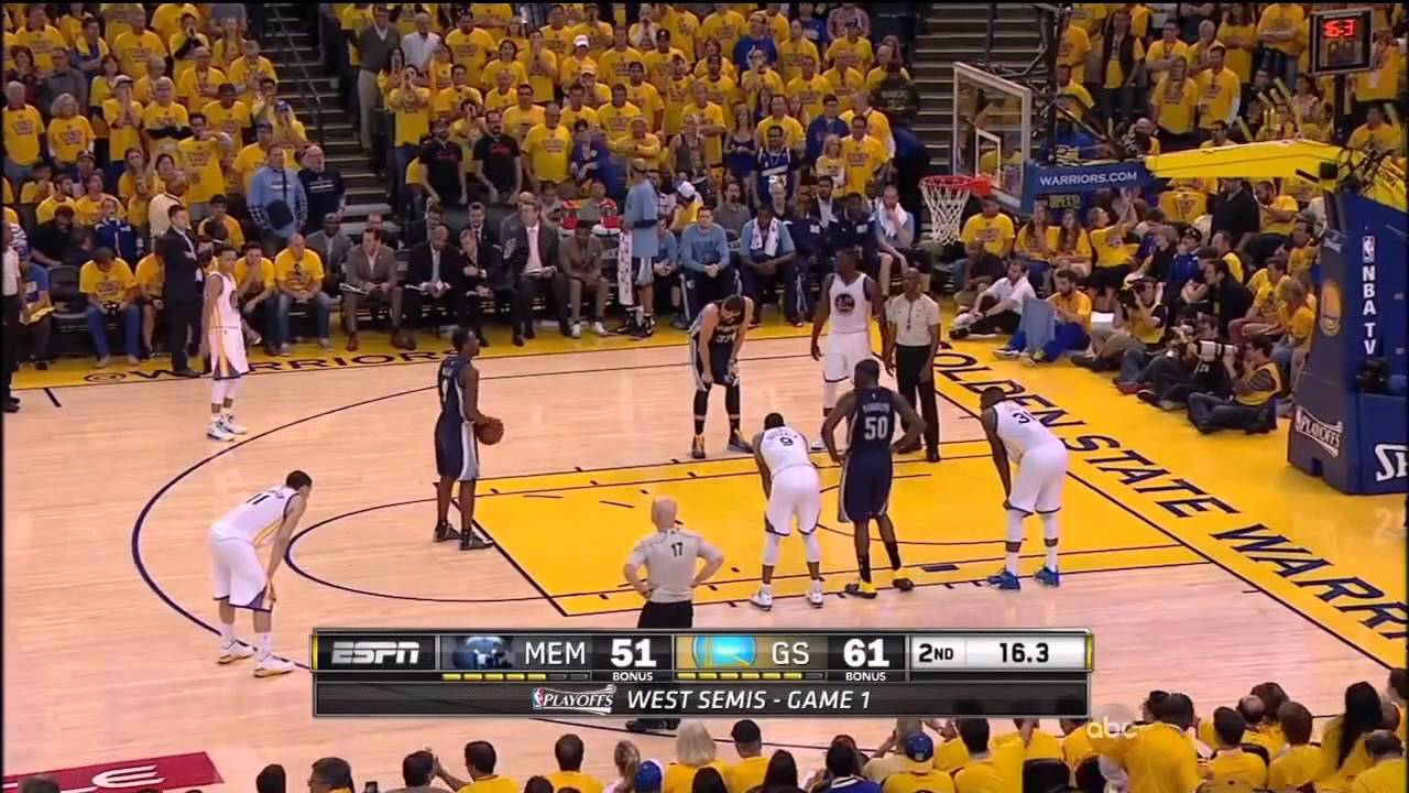 Tony Allen interferes with Warriors dancers during timeout