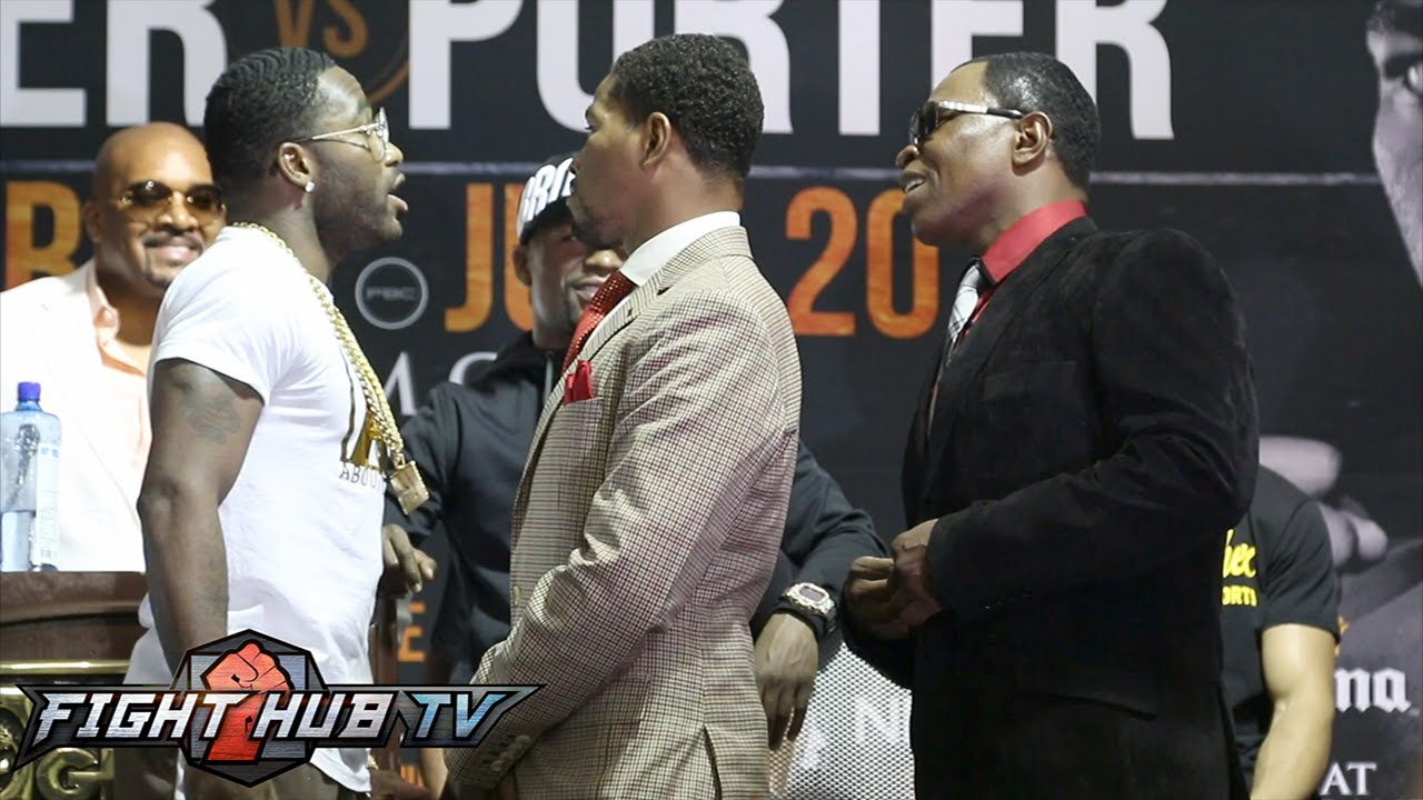 Adrien Broner gets into heated exchange with Shawn Porter's dad!