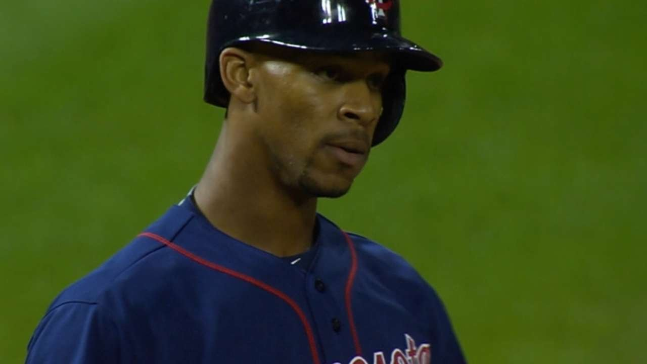 Byron Buxton triples for first career hit