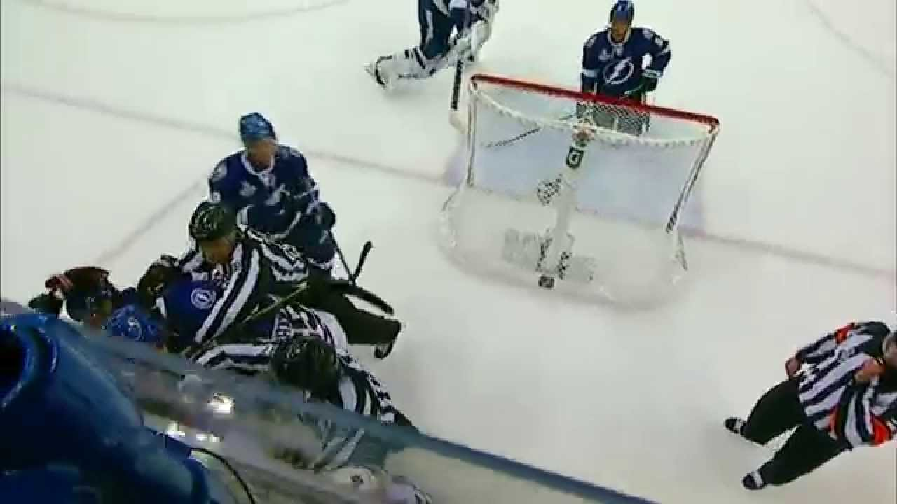 Did Andrew Shaw bite Victor Hedman?
