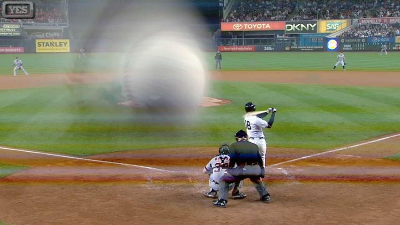 Didi Gregorius breaks camera with foul ball
