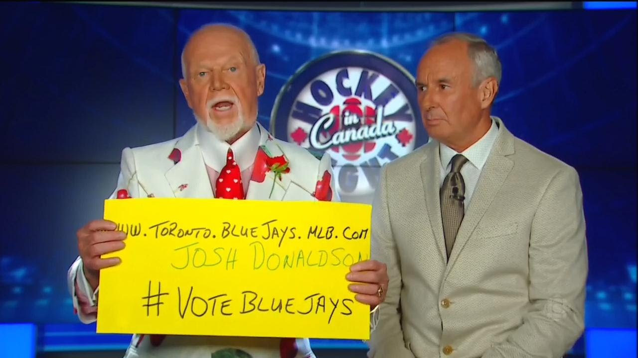 Don Cherry says it's time to vote for Josh Donaldson in the MLB All-Star Game
