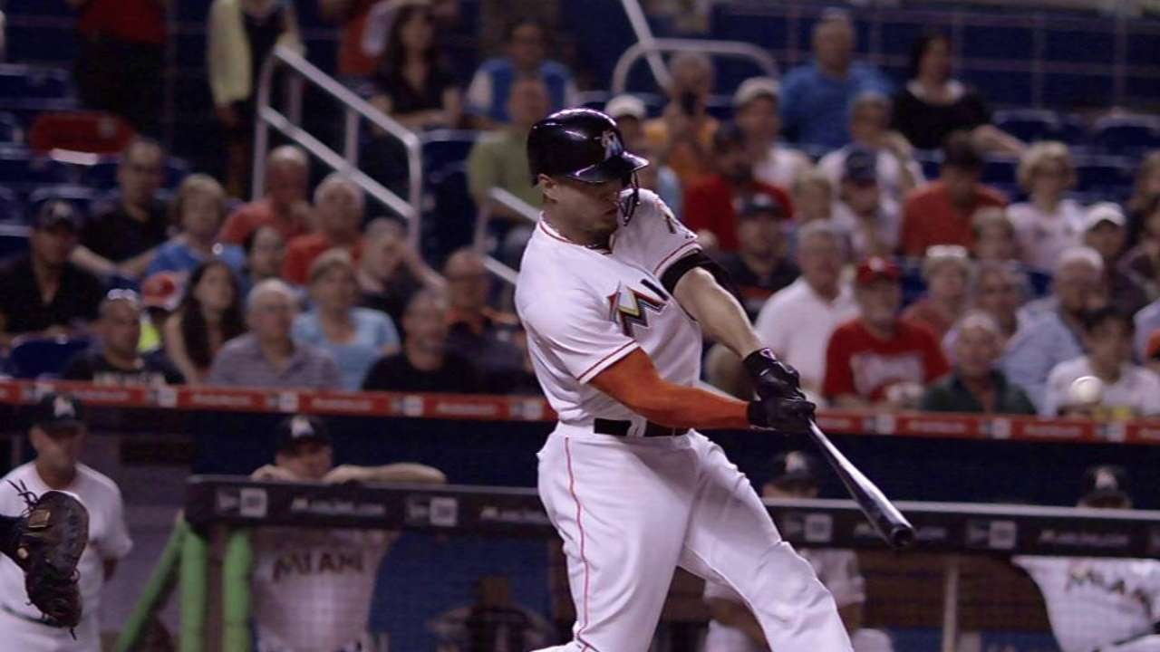 Giancarlo Stanton hammers a towering two-run home run