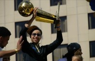Golden State Warriors celebrate at Championship Parade