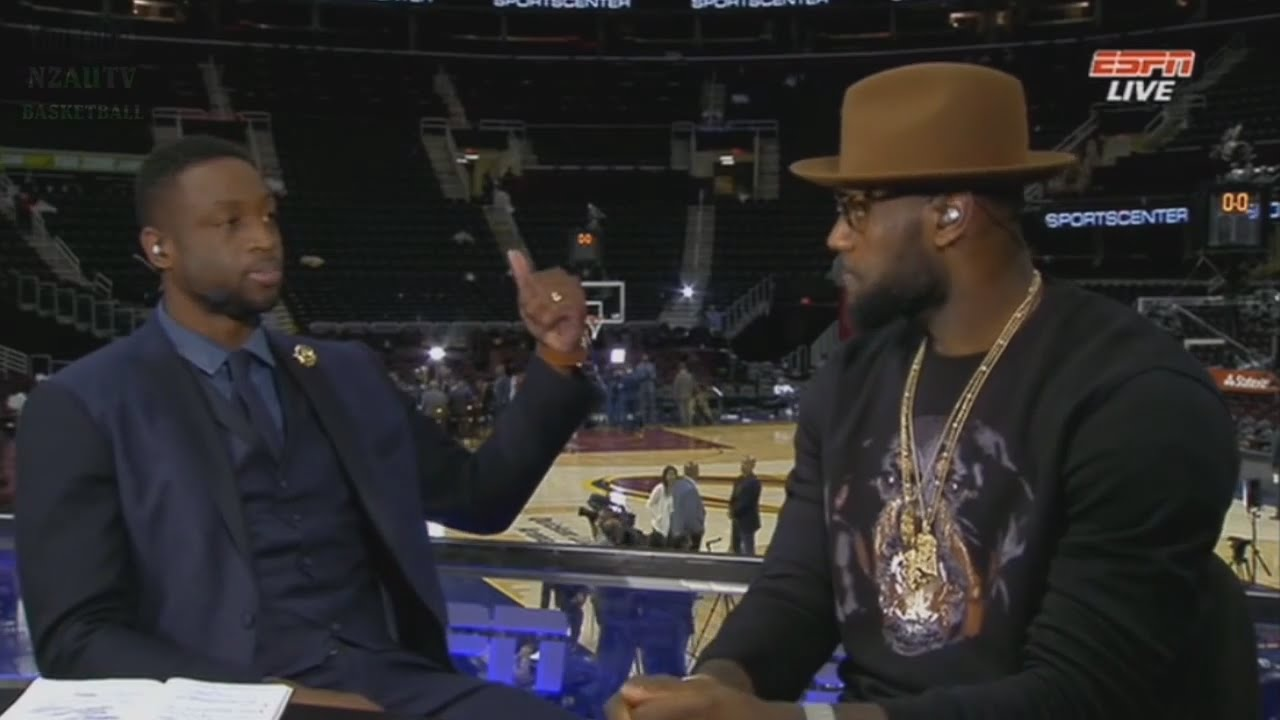 LeBron James post game interview with Dwayne Wade