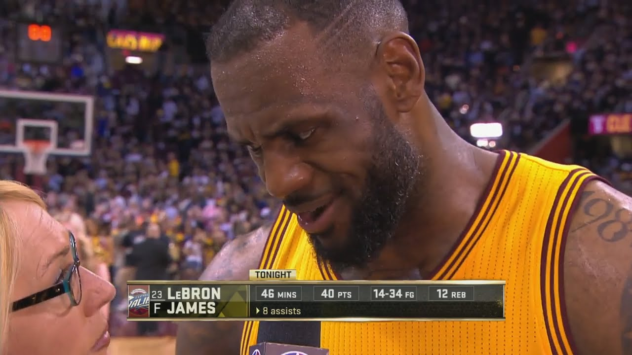 LeBron James post game interview (Game 3 - NBA Finals)