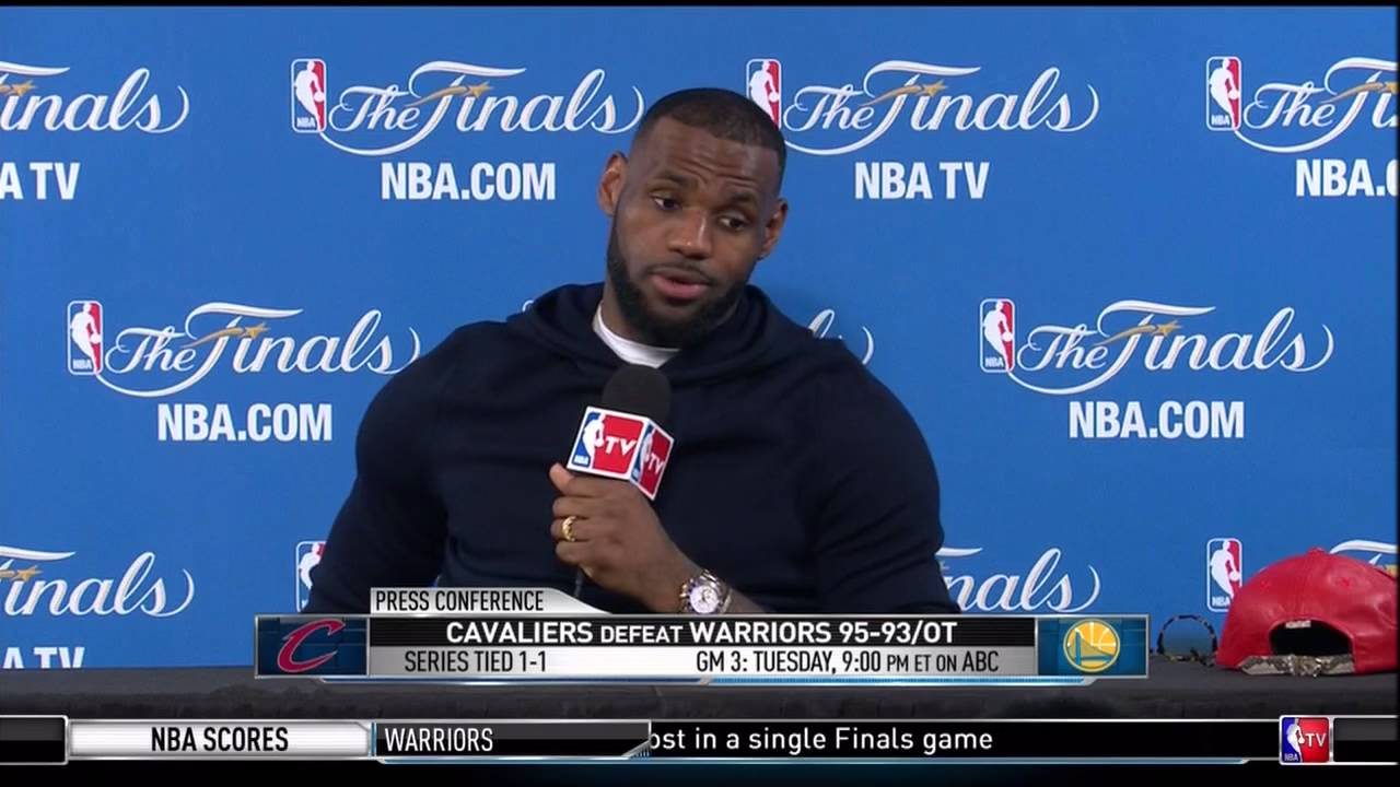 LeBron James press conference (Game 2 - NBA Finals)