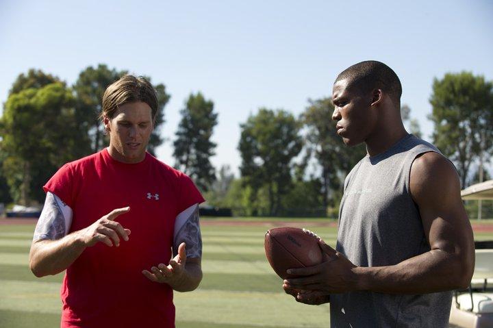 Cam Newton mocks Tom Brady during throwing practice